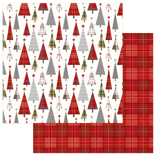 Photo Play Paper - Mad 4 Plaid Christmas Collection - 12 x 12 Double Sided Paper - Tree Lot