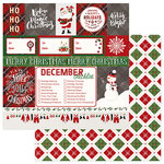 Photo Play Paper - Mad 4 Plaid Christmas Collection - 12 x 12 Double Sided Paper - Ho Ho Ho