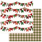 Photo Play Paper - Mad 4 Plaid Christmas Collection - 12 x 12 Double Sided Paper - Joy