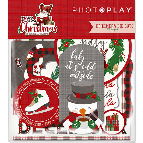 Photo Play Paper - Mad 4 Plaid Christmas Collection - Ephemera