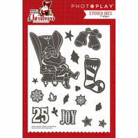 Photo Play Paper - Mad 4 Plaid Christmas Collection - Die Set - Icons