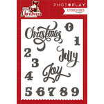Photo Play Paper - Mad 4 Plaid Christmas Collection - Die Set - Words
