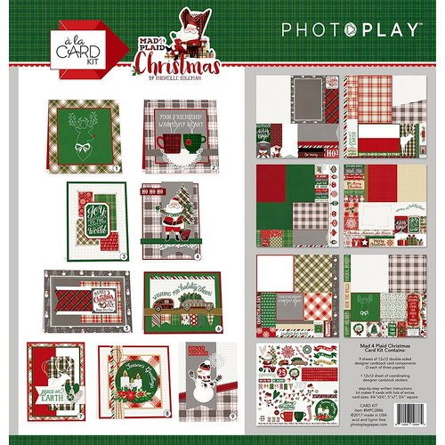 Photo Play Paper - Mad 4 Plaid Christmas Collection - Card Kit