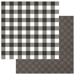 Photo Play Paper - Mad 4 Plaid Christmas Collection - Solids and Buffalo Check - 12 x 12 Double Sided Paper - Grey and White