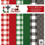 Photo Play Paper - Mad 4 Plaid Christmas Collection - Solids and Buffalo Check - 12 x 12 Collection Pack
