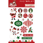 Photo Play Paper - Mad 4 Plaid Christmas Collection - Puffy Stickers - Elements