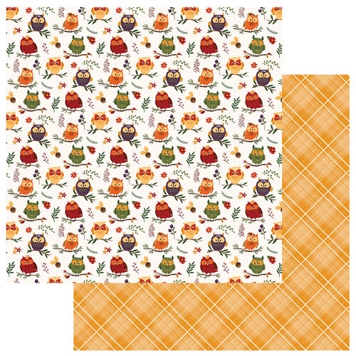 Photo Play Paper - Mad 4 Plaid Fall Collection - 12 x 12 Double Sided Paper - Whoo Loves You