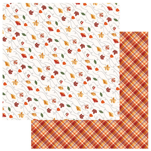 Photo Play Paper - Mad 4 Plaid Fall Collection - 12 x 12 Double Sided Paper - Leaves Are Falling