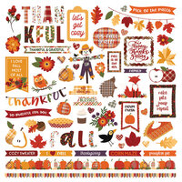 Photo Play Paper - Mad 4 Plaid Fall Collection - 12 x 12 Cardstock Stickers