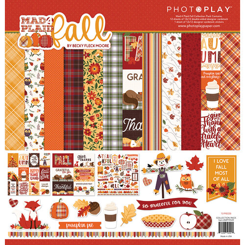 Photo Play Paper - Mad 4 Plaid Fall Collection - 12 x 12 Collection Pack
