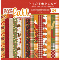Photo Play Paper - Mad 4 Plaid Fall Collection - 6 x 6 Paper Pad