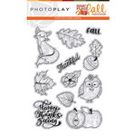 Photo Play Paper - Mad 4 Plaid Fall Collection - Clear Photopolymer Stamps