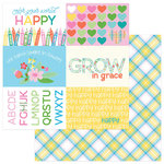 Photo Play Paper - Mad 4 Plaid Happy Collection - 12 x 12 Double Sided Paper - Happy Colors