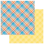 Photo Play Paper - Mad 4 Plaid Happy Collection - 12 x 12 Double Sided Paper - Happy Plaid