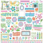 Photo Play Paper - Mad 4 Plaid Happy Collection - 12 x 12 Cardstock Stickers - Elements