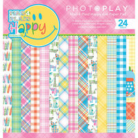 Photo Play Paper - Mad 4 Plaid Happy Collection - 6 x 6 Paper Pad