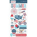 Photo Play Paper - Main St Parade Collection - Chipboard Stickers