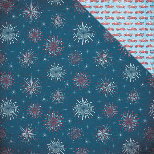 Photo Play Paper - Main St Parade Collection - 12 x 12 Double Sided Paper - Fireworks