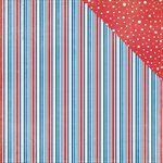 PhotoPlay Paper - Main St Parade Collection - 12 x 12 Double Sided Paper - Stripes