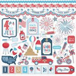 PhotoPlay Paper - Main St Parade Collection - 12 x 12 Cardstock Stickers - Elements