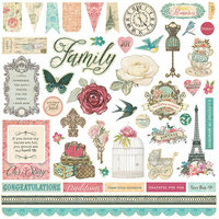 Photo Play Paper - Moments in Time Collection - 12 x 12 Cardstock Stickers - Elements