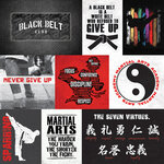 Color Play - Martial Arts Collection - 12 x 12 Double Sided Paper - Black Belt