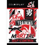 Color Play - Martial Arts Collection - Die Cut Cardstock Pieces - Ephemera