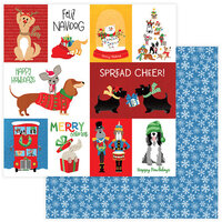 Photo Play Paper - Christmas - Muttcracker Collection - 12 x 12 Double Sided Paper - Feliz Navidog