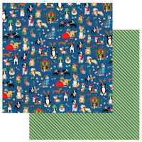 Photo Play Paper - Christmas - Muttcracker Collection - 12 x 12 Double Sided Paper - Happy Howlidays