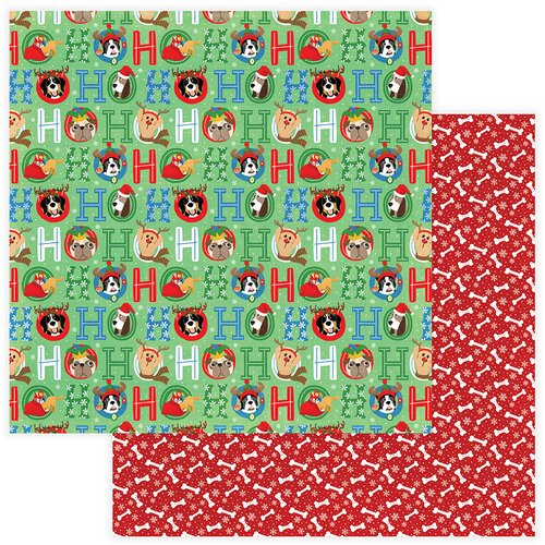Photo Play Paper - Christmas - Muttcracker Collection - 12 x 12 Double Sided Paper - Ho Ho Ho