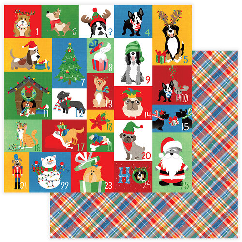 Photo Play Paper - Christmas - Muttcracker Collection - 12 x 12 Double Sided Paper - Countdown