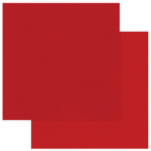 Photo Play Paper - Christmas - Muttcracker Collection - 12 x 12 Double Sided Paper - Solids Plus - Red