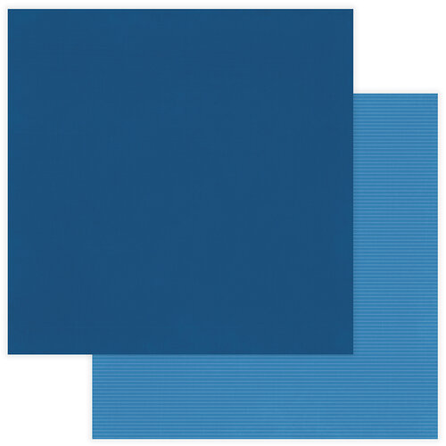 Photo Play Paper - Christmas - Muttcracker Collection - 12 x 12 Double Sided Paper - Solids Plus - Blue