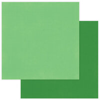 Photo Play Paper - Christmas - Muttcracker Collection - 12 x 12 Double Sided Paper - Solids Plus - Green