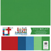 Photo Play Paper - Christmas - Muttcracker Collection - 12 x 12 Solids Plus Kit