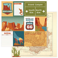 Photo Play Paper - National Parks Grand Canyon Collection - 12 x 12 Double Sided Paper - What A View