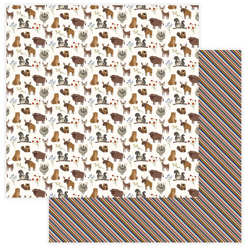 Photo Play Paper - National Parks Yellowstone Collection - 12 x 12 Double Sided Paper - Critters