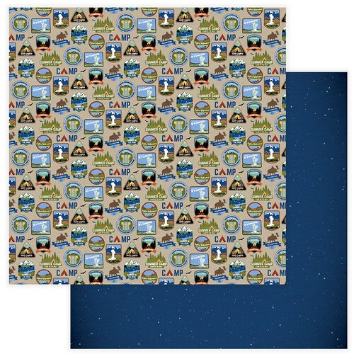 Photo Play Paper - National Parks Yellowstone Collection - 12 x 12 Double Sided Paper - Campground
