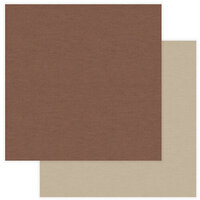 Photo Play Paper - National Parks Yellowstone Collection - 12 x 12 Double Sided Paper - Solids - Brown and Tan