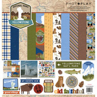 Photo Play Paper - National Parks Yellowstone Collection - 12 x 12 Collection Pack