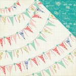 Photo Play Paper - Nautical Bliss Collection - 12 x 12 Double Sided Paper - Banners