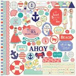 PhotoPlay Paper - Nautical Bliss Collection - 12 x 12 Cardstock Stickers - Elements