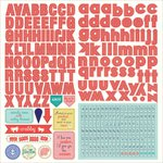 Photo Play Paper - Nautical Bliss Collection - 12 x 12 Cardstock Stickers - Alphabet