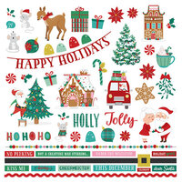 Photo Play Paper - Not A Creature Was Stirring Collection - 12 x 12 Cardstock Stickers - Elements