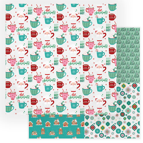 Photo Play Paper - Not A Creature Was Stirring Collection - 12 x 12 Double Sided Paper - Hot Chocolate