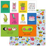 Photo Play Paper - No Pun Intended Collection - 12 x 12 Double Sided Paper - So Punny
