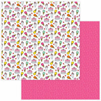 Photo Play Paper - No Pun Intended Collection - 12 x 12 Double Sided Paper - Sweet Tooth