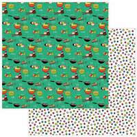 Photo Play Paper - No Pun Intended Collection - 12 x 12 Double Sided Paper - Wok This Way