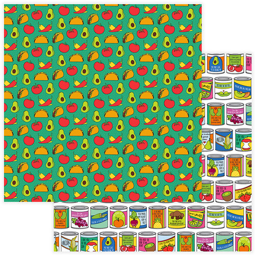Photo Play Paper - No Pun Intended Collection - 12 x 12 Double Sided Paper - Taco 'Bout It