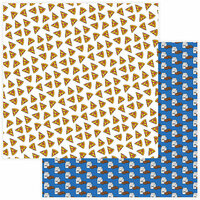 Photo Play Paper - No Pun Intended Collection - 12 x 12 Double Sided Paper - Pizza My Heart